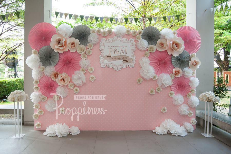 Backdrop hoa giay