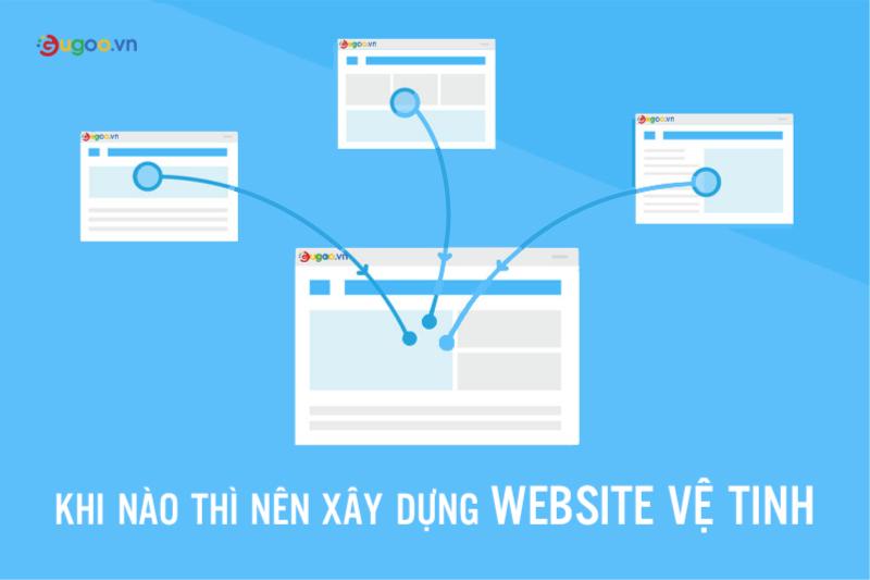 Nen xay dung website ve tinh khi nao