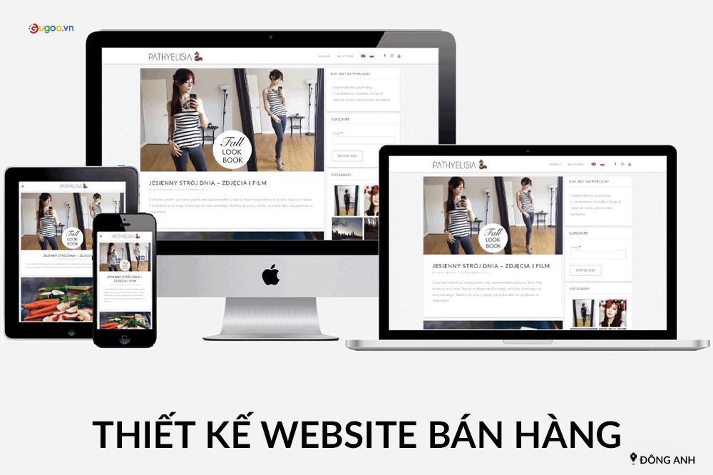 thiet ke website ban hang tai Dong Anh