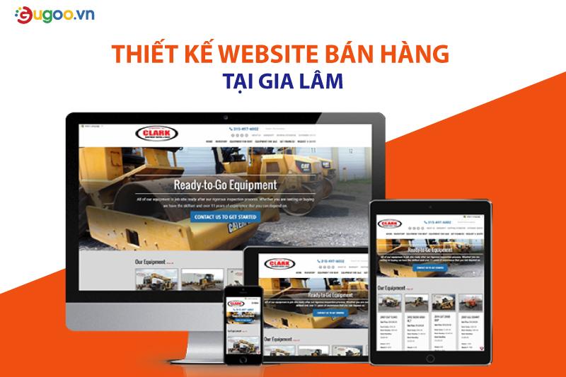 thiet ke web ban hang tai Gia Lam
