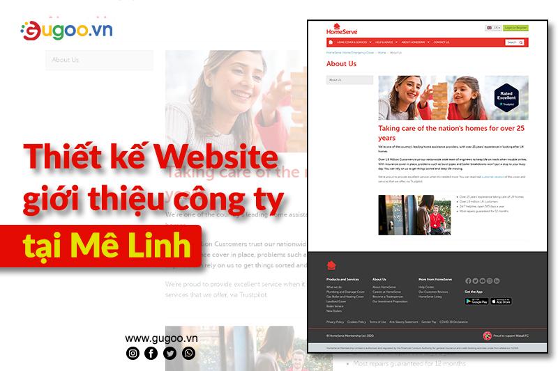 thiet ke web tai Me Linh