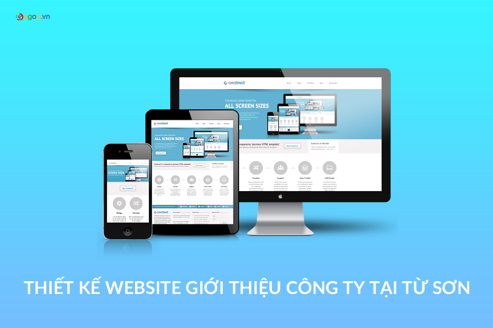thiet ke website gioi thieu cong ty tai Tu Son