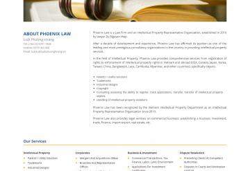 Mẫu Website Giới Thiệu Công Ty Luật