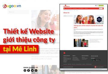 Thiết Kế Website Giới Thiệu Công Ty Tại Mê Linh