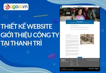Thiết Kế Website Giới Thiệu Công Ty Tại Thanh Trì