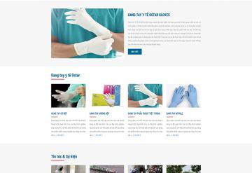 Mẫu Website Bán Khẩu Trang Và Gang Tay Y Tế