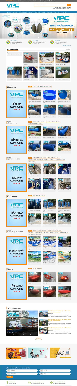 Mẫu Website Bán Nhựa Composite