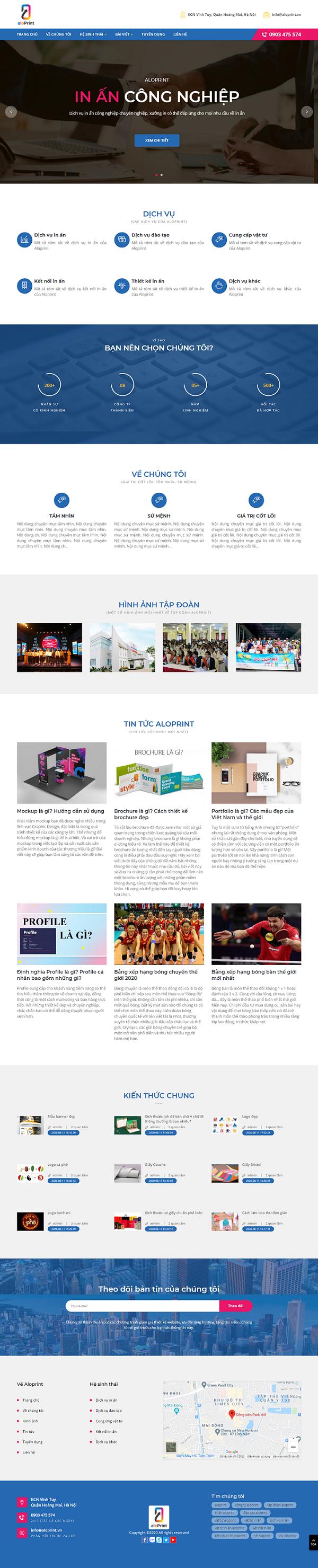 Mẫu Thiết Kế Website In Ấn