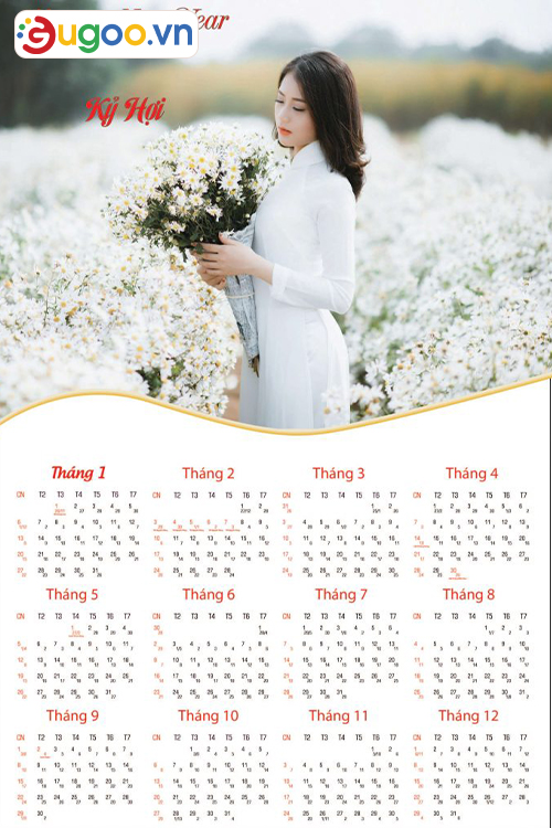 Thiết kế lịch treo tường GLT12