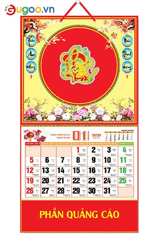 Thiết kế lịch treo tường GLT6