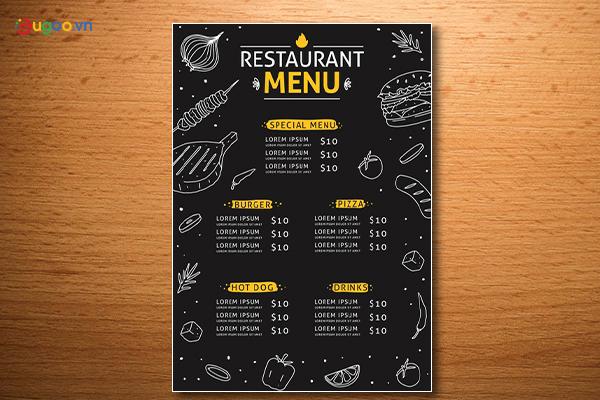 Thiết kế thực đơn - Menu GMN10