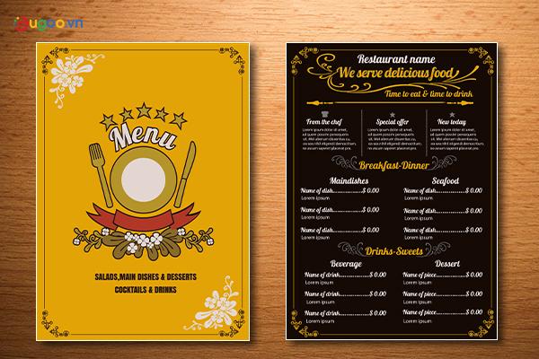Thiết kế thực đơn - Menu GMN13