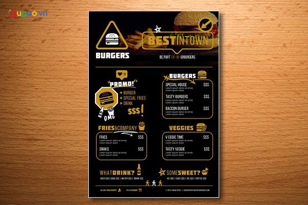 Thiết kế thực đơn - Menu GMN14