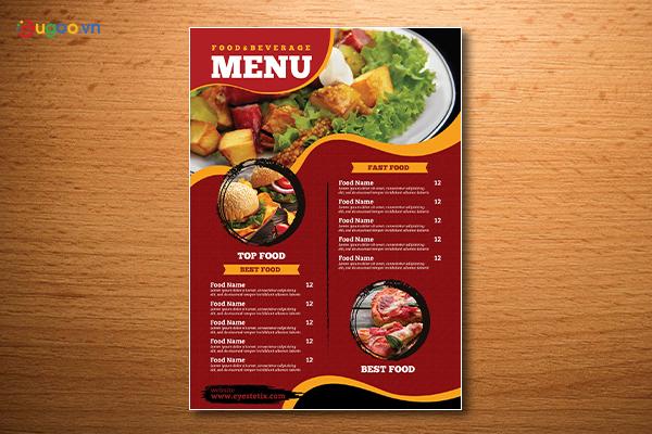 Thiết kế thực đơn - Menu GMN15