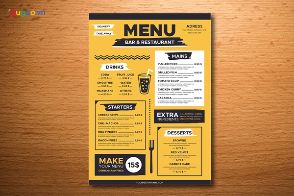 Thiết kế thực đơn - Menu GMN22