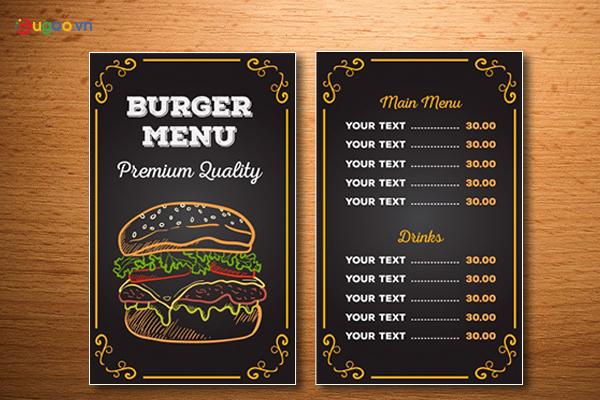 Thiết kế thực đơn - Menu GMN26