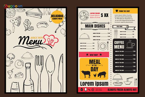 Thiết kế thực đơn - Menu GMN3