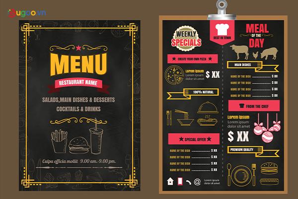 Thiết kế thực đơn - Menu GMN5