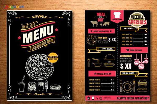 Thiết kế thực đơn - Menu GMN6