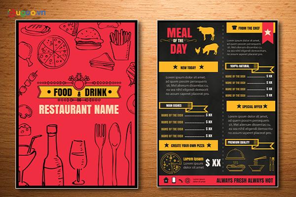 Thiết kế thực đơn - Menu GMN7