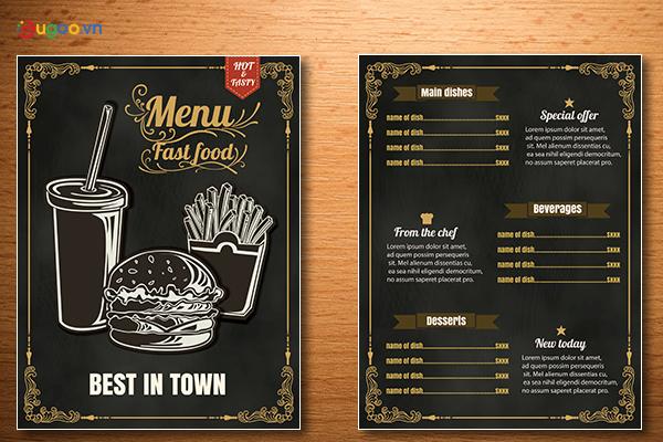 Thiết kế thực đơn - Menu GMN9